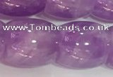 CNA982 15.5 inches 16*16mm drum natural lavender amethyst beads