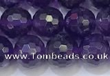 CNA992 15.5 inches 8mmm faceted round amethyst beads wholesale
