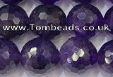 CNA993 15.5 inches 10mmm faceted round amethyst beads wholesale