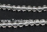 CNC01 15.5 inches 6mm round grade AB natural white crystal beads
