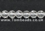 CNC08 15.5 inches 8mm faceted round grade AB natural white crystal beads