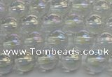 CNC201 15.5 inches 6mm round AB-color white crystal beads