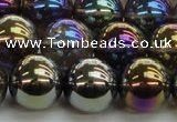 CNC255 15.5 inches 14mm round AB-color white crystal beads
