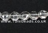 CNC40 10*10mm octagonal grade AB natural white crystal beads wholesale