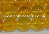 CNC404 15.5 inches 12mm round dyed natural white crystal beads