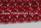 CNC410 15.5 inches 4mm round dyed natural white crystal beads