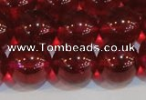 CNC415 15.5 inches 14mm round dyed natural white crystal beads