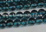 CNC421 15.5 inches 6mm round dyed natural white crystal beads