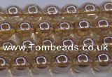 CNC501 15.5 inches 6mm round dyed natural white crystal beads