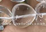 CNC730 15.5 inches 16*16mm heart white crystal beads wholesale