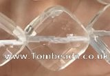 CNC758 15.5 inches 18*18mm faceted diamond white crystal beads