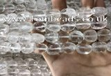 CNC804 10*14mm - 13*18mm faceted nuggets white crystal beads