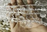 CNC843 Top drilled 8*12mm faceted briolette white crystal beads