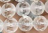 CNC851 15.5 inches 8mm faceted round white crystal beads