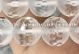 CNC852 15.5 inches 10mm faceted round white crystal beads