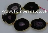 CNG2852 8 inches 35*45mm - 45*55mm freeform druzy agate beads