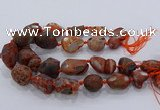 CNG3055 25*30mm - 30*40mm nuggets agate gemstone beads