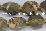 CNG3529 15.5 inches 14mm - 16mm faceted nuggets devil jasper beads