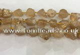 CNG3547 15*20mm - 20*25mm nuggets plated rough white crystal beads