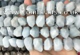 CNG3602 15.5 inches 13*20mm - 15*24mm faceted nuggets aquamarine beads