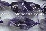CNG424 15.5 inches 20*30mm - 25*50mm nuggets amethyst beads