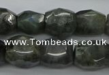 CNG5007 15.5 inches 10*14mm - 13*18mm faceted nuggets labradorite beads