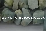CNG5012 15.5 inches 10*15mm - 15*20mm nuggets aquamarine beads