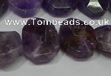 CNG5132 15.5 inches 15*18mm - 15*20mm faceted freeform amethyst beads