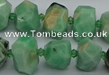CNG5272 15.5 inches 10*14mm - 13*18mm faceted nuggets emerald  beads
