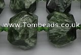 CNG5278 15.5 inches 13*18mm - 15*25mm faceted nuggets seraphinite beads
