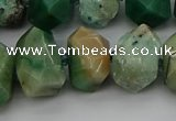 CNG5329 15.5 inches 12*16mm - 15*20mm faceted nuggets African jade beads