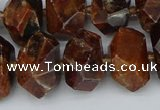 CNG5517 12*16mm - 15*20mm faceted nuggets orange garnet beads
