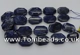 CNG5765 15.5 inches 20*30mm - 35*45mm faceted freeform sodalite beads