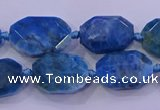 CNG5787 10*14mm - 12*16mm faceted freeform apatite beads