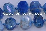 CNG5788 10*14mm - 12*16mm faceted freeform apatite beads