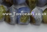CNG5800 12*16mm - 13*18mm faceted nuggets blue lace agate beads