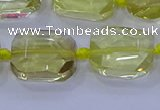 CNG5881 15.5 inches 10*14mm - 12*16mm faceted freeform lemon quartz beads