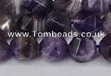 CNG6165 15.5 inches 10mm faceted nuggets dogtooth amethyst beads