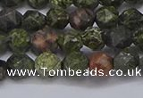 CNG6243 15.5 inches 6mm faceted nuggets green lace stone beads