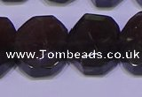 CNG6308 15.5 inches 13*18mm - 15*20mm faceted freeform smoky quartz beads