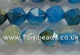 CNG6525 15.5 inches 8mm faceted nuggets line agate beads