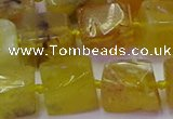 CNG6813 15.5 inches 8*12mm - 10*16mm nuggets yellow opal beads