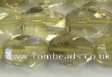 CNG6954 10*14mm - 12*16mm faceted nuggets lemon quartz beads