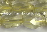 CNG6955 10*14mm - 13*18mm faceted nuggets lemon quartz beads