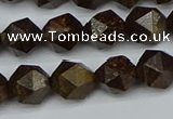 CNG7441 15.5 inches 8mm faceted nuggets bronzite gemstone beads