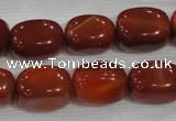 CNG747 15.5 inches 13*18mm nuggets red agate beads wholesale