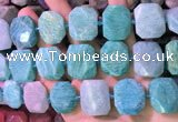 CNG7580 15.5 inches 18*25mm - 20*28mm faceted freeform amazonite beads