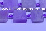 CNG7600 15.5 inches 10*12mm - 12*14mm freeform kunzite beads