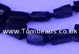 CNG7655 15.5 inches 5*7mm - 8*10mm nuggets black tourmaline beads