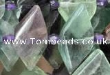 CNG7705 15.5 inches 13*20mm - 15*25mm faceted freeform fluorite beads